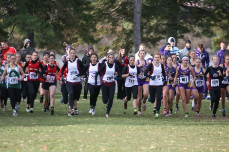 The start of the 2011 women's OUA XC Championships presented by Suunto