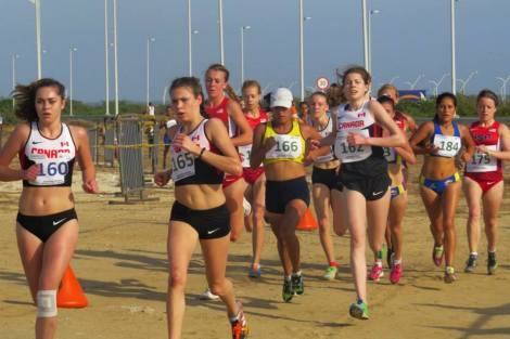 Claire Smith running at 2015 Panamerican Cross Country Championships in Barranquilla, Colombia Photo courtesy: NACAC Athletics